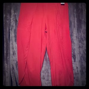 Drew- red high waisted pants